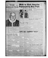 National Catholic Register November 9, 1958