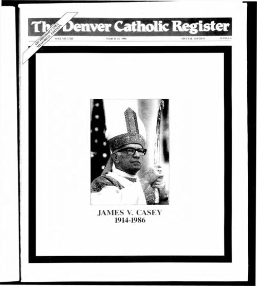 Memorial supplement to the Denver Catholic Register