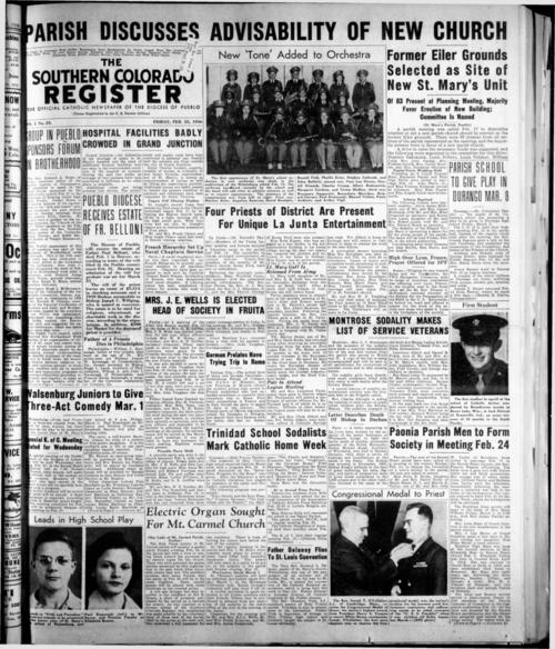 The Southern Colorado Register was the newspaper of the Diocese of Pueblo
