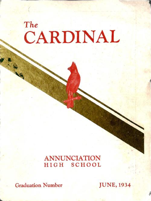 The Cardinal was the yearbook for Annunciation High School