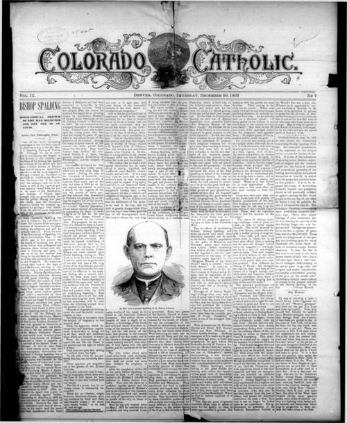 The Colorado Catholic was the first newspaper in the Diocese of Denver
