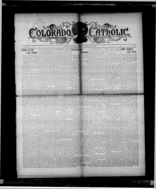 Colorado Catholic was the first newspaper in the Diocese of Denver