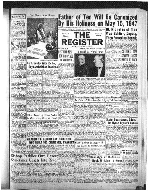 The National Catholic Register is part of the system of newspapers
