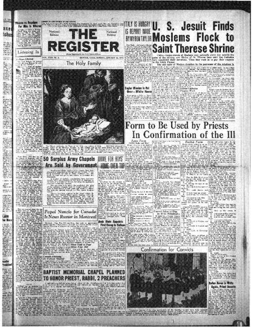 The National Catholic Register is part of the Register System of newspapers.