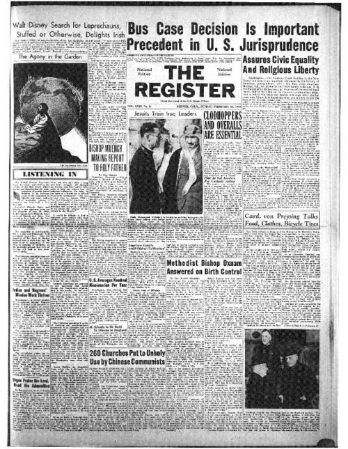 The Catholic Register is part of the system of register newspapers