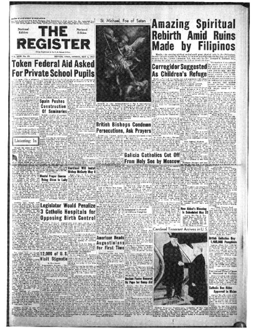 The National Catholic Register is part of the register System of newspapers