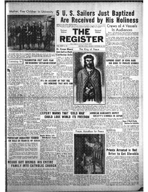 The National Catholic Register was part of the Register system of newspapers.