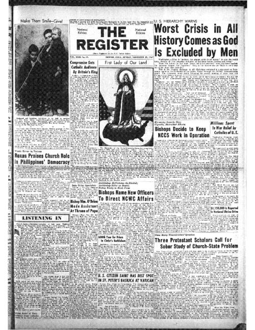 The National Catholic Register was part of the Register System of newspapers