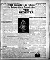 National Catholic Register January 15, 1950