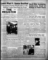 National Catholic Register October 15, 1950