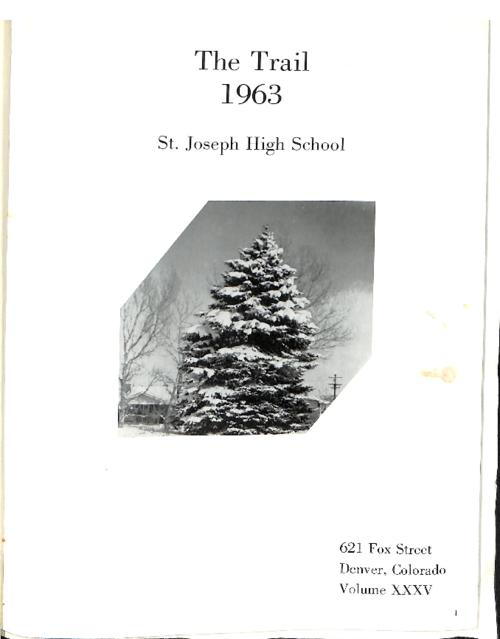 This volume contains The Trail Yearbook from 1963 volume XXXV.  It also contains issues of the Santa Fe Trail from October 1963-March April 1966 which was a magazine put out by the journalism students of St. Joseph's High School