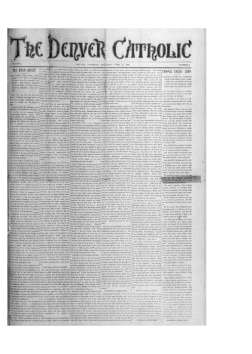 The Denver Catholic Register was the second newspaper of the Diocese of Denver