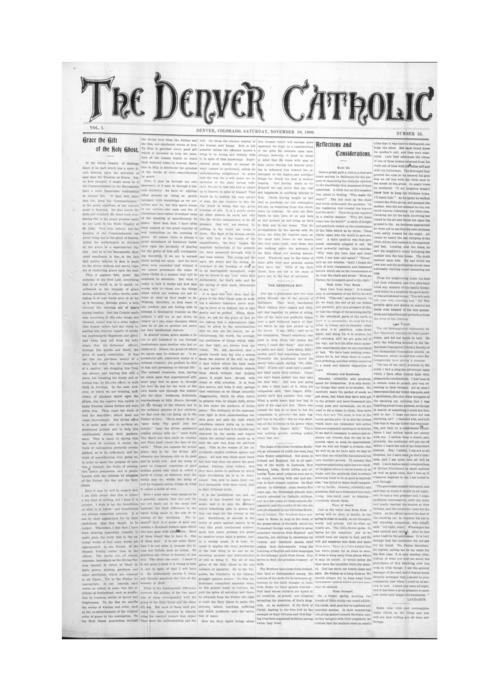 The Denver Catholic is the second newspaper in the Diocese of Denver
