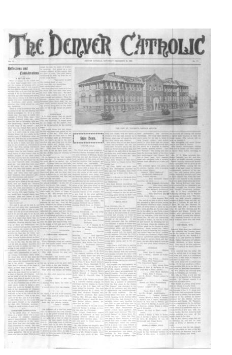 The Denver Catholic was the second newspaper in the Diocese of Denver