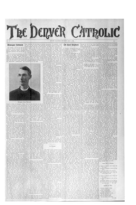 The Denver Catholic was the newspaper of the Diocese of Denver