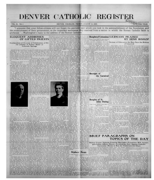 Newspaper of the Diocese of Denver