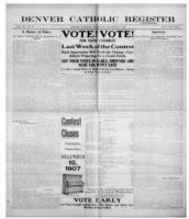 Denver Catholic Register December 5, 1907