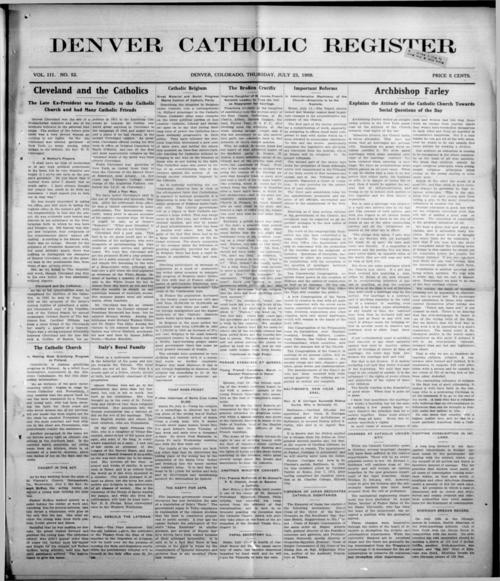 This is the newspaper of the Diocese of Denver