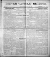Denver Catholic Register April 1, 1909