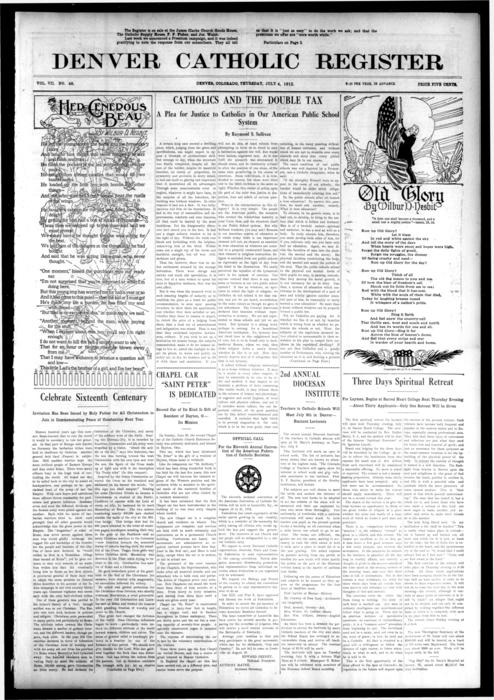 The Denver Catholic Register is the newspaper of the Diocese of Denver.