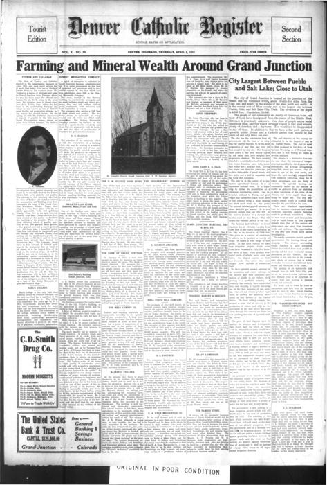 The Denver Catholic Register is the newspaper of the Diocese of Denver.  This is Section 2 of the Easter Tourist edition of the paper