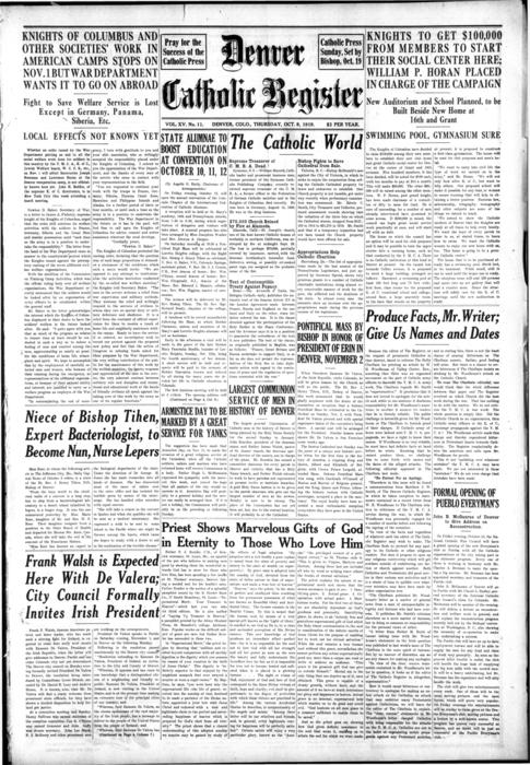 The Denver Catholic Register is the paper of the Diocese of Denver.
