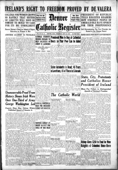The Denver Catholic Register is the newspaper for the Diocese of Denver