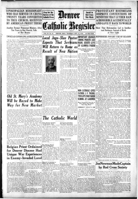 Denver Catholic Register is the newspaper of the Diocese of Denver
