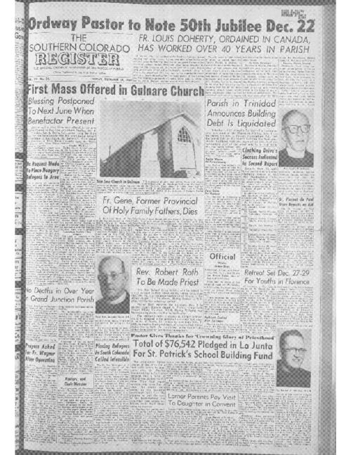 This is the newspaper of the Diocese of Pueblo