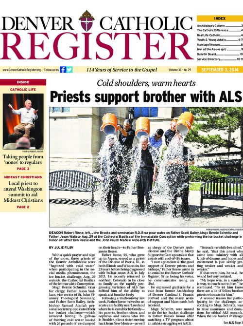 Denver Catholic Register is the newspaper of the Archdiocese of Denver