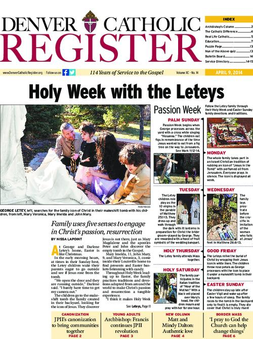 The Denver Catholic Register is the newspaper of the Archdiocese of Denver