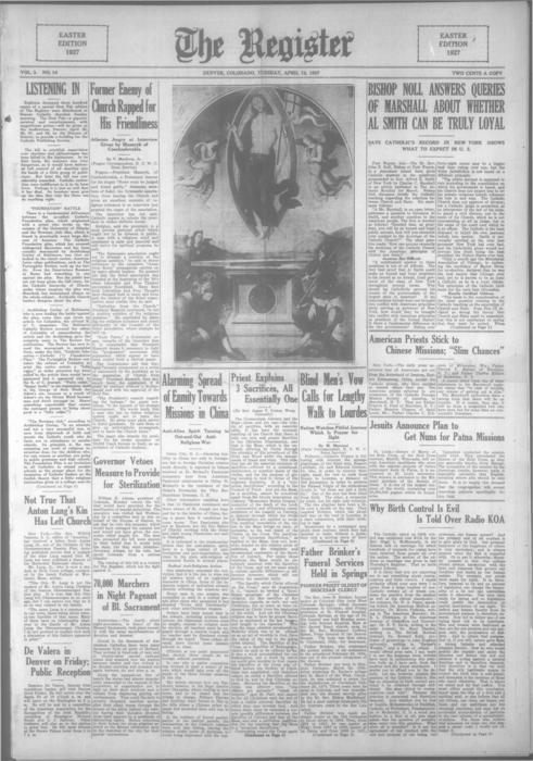 The Register is part of the Denver Catholic Register