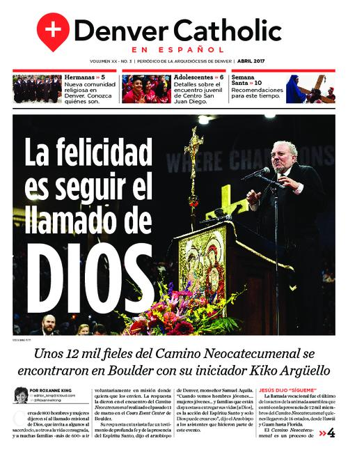 This is the Spanish language newspaper of the Archdiocese of Denver.  This is the first edition of what was known as El Pueblo