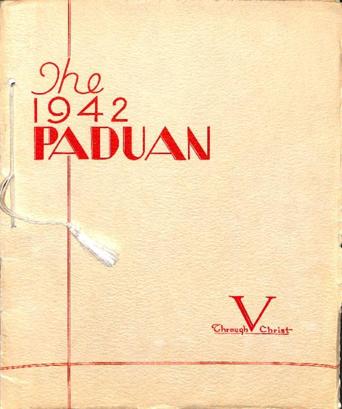 The Paduan was the yearbook for St. Anthony's High School in Sterling, CO