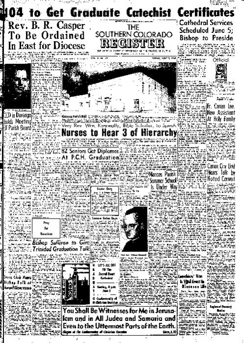 This is the newspaper of the Diocese of Pueblo.  Contains issues June 3, 1955, June 10, 1955, June 17, 1955 and June 24, 1955