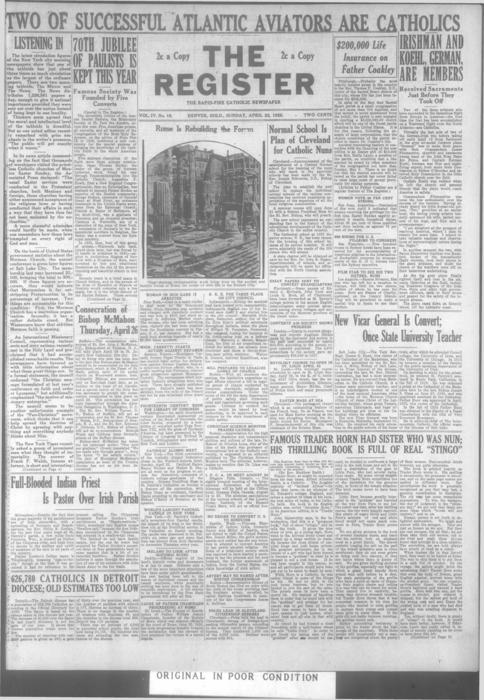 Part of the Denver Catholic Register.  Local and national editions were printed