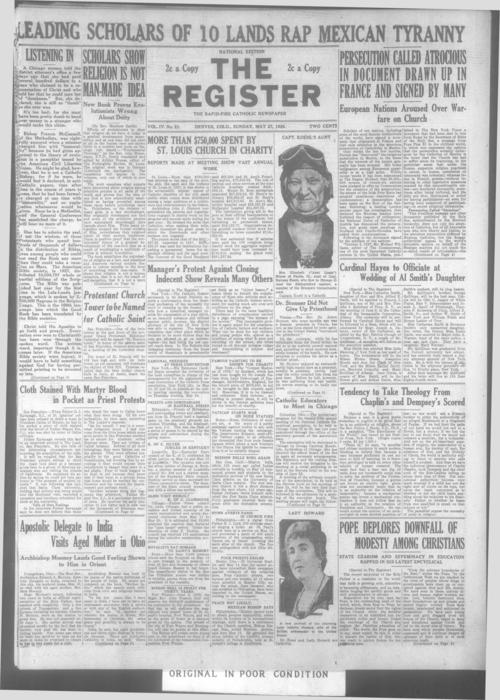 Part of the Denver Catholic Register.  A local and national edition were published