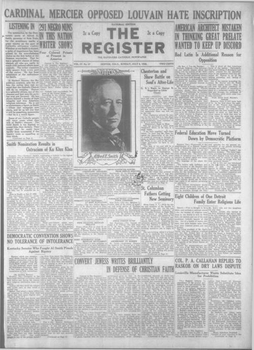 Part of the Denver Catholic Register.  A local and national edition was published