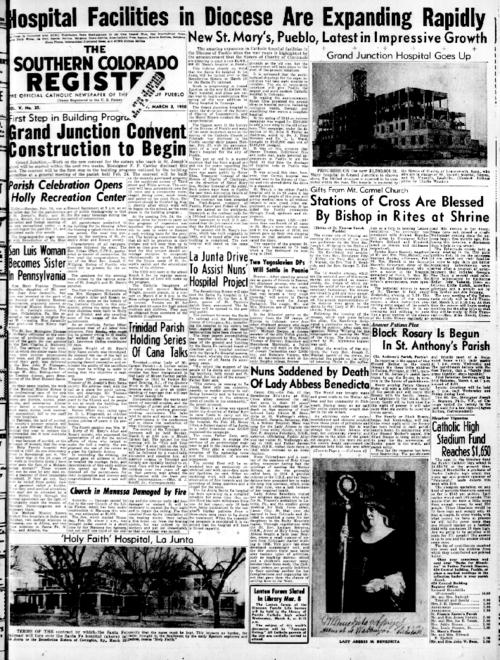 This is the newspaper of the Diocese of Pueblo.  Contains issues March 3, 1950, March 10, 1950, March 17, 1950, March 24, 1950 and March 31, 1950