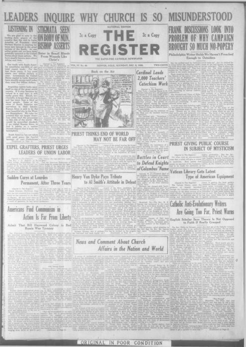 The Register is a part of the Denver Catholic Register
