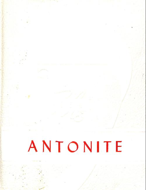 Antonite was the yearbook for St. Anthony's High School in Sterling, CO