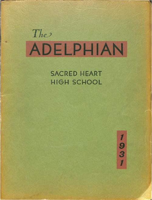 The Adelphian was the yearbook of Sacred Heart Grade & High School