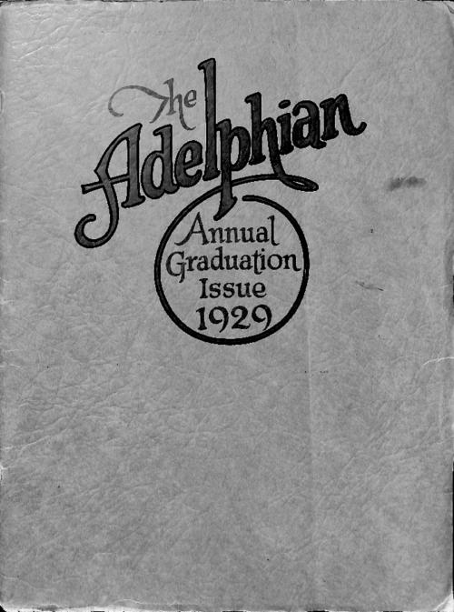 Graduation issue of the Adelphian school magazine of Sacred Heart High School in Denver.  Publication contains articles by students about the high school and grade school.