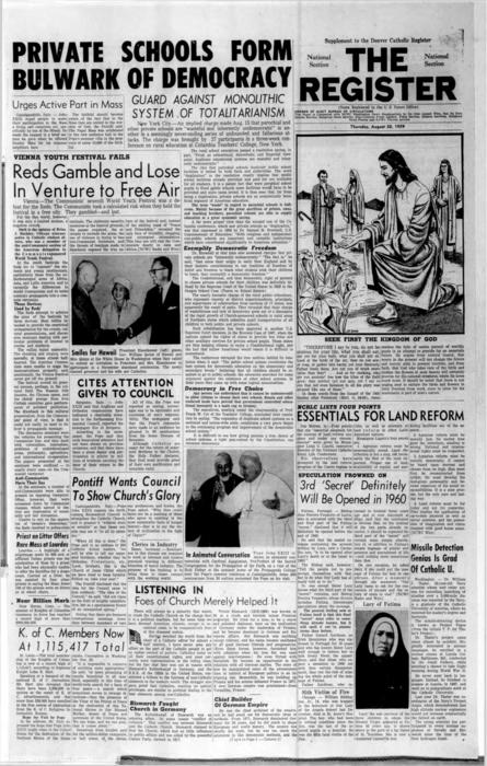 supplement of the Denver Catholic Register