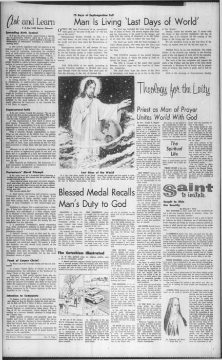 supplement to the Denver Catholic Register.  Similar to the National Catholic Register