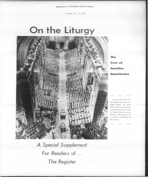 Liturgy Supplement to the Denver Catholic Register
