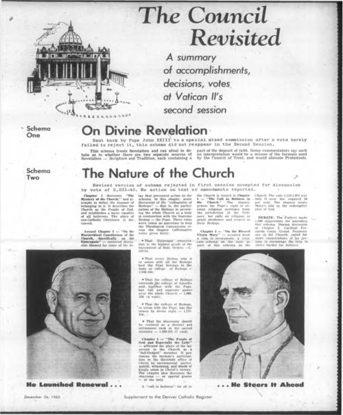 Vatican II supplement to the Denver Catholic Register