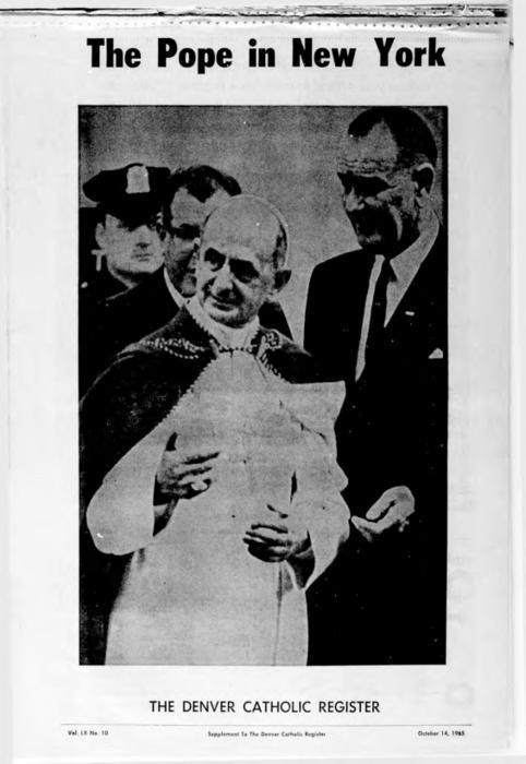 Pope Paul VI visit to the United States supplement