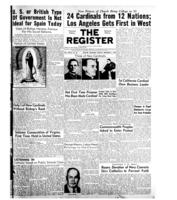 National Catholic Register December 7, 1952