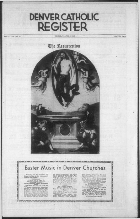 Easter section of the Denver Catholic Register
